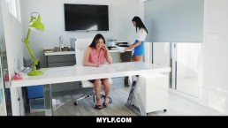 MYLF   Mature Lesbian Boss Fucks Teen Employee